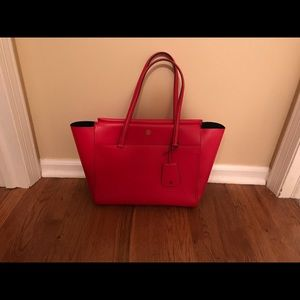 Tory Burch Large Parker Tote - Cherry Red
